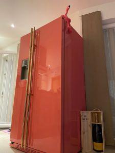 Kunde foto General electric IO MABE Side by Side Kühlschrank ORE 24 VGF 8RAL Farbe alt Rosa